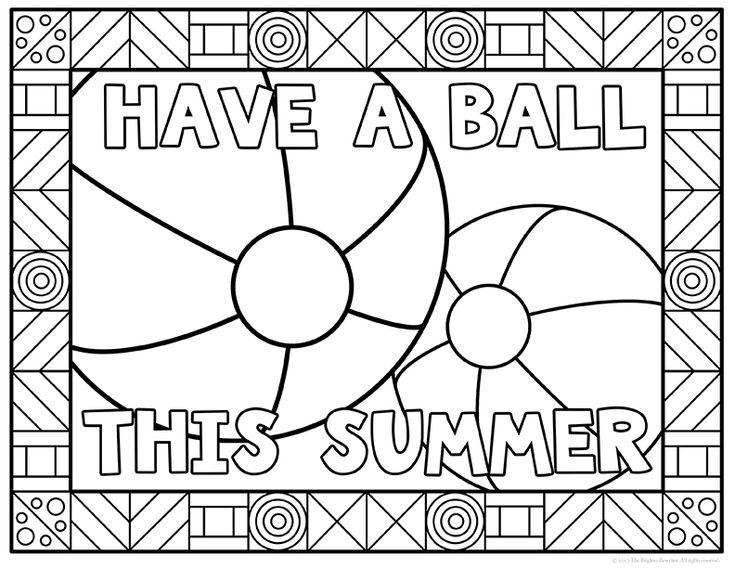 Summer Coloring Pages Summer Coloring Pages School Coloring