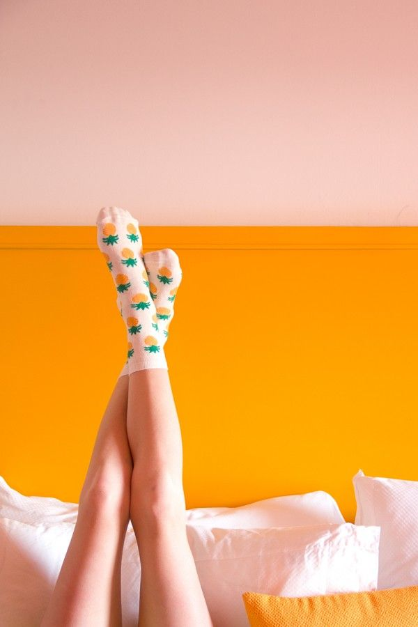 Pineapple Socks. Socks are a lame gift but pineapple socks are awesome