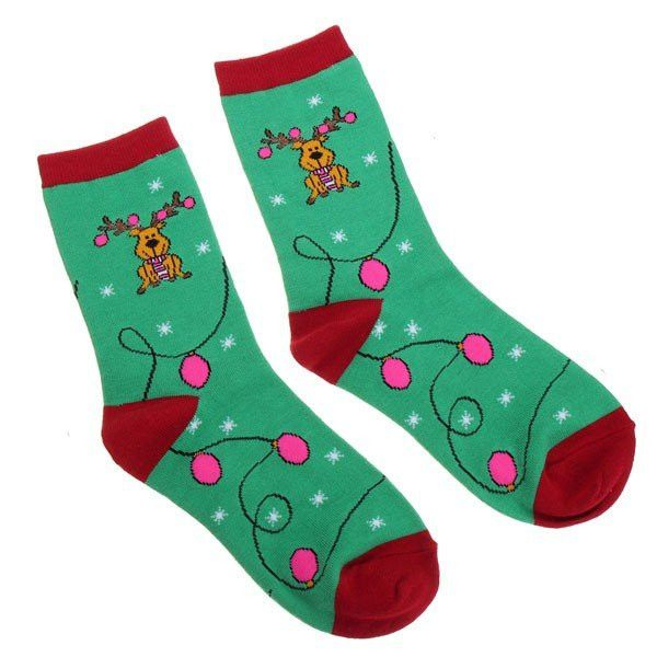 Christmas Socks Cotton Santa Claus Deer Pattern Cartoon Hosiery Gift Stockings