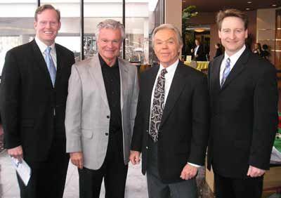 Cleveland Weathermen Mark Nolan, Don Webster, Dick Goddard and Mark Johnson