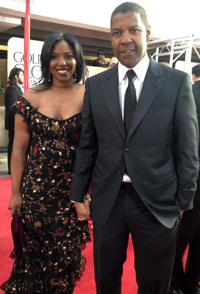 Denzel Washington brought his daughter to the #goldenglobes