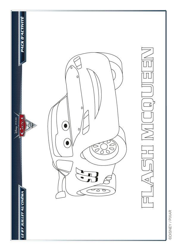 Coloriage Disney Cars 2 Flash McQueen - Hugolescargot.com