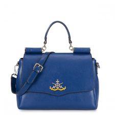 Nucelle - Marynarska torebka na ramię Niebieski BORSABORSA.PL