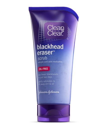 CLEAN & CLEAR® BLACKHEAD ERASER® Scrub with Salicylic Acid, removes trapped dirt, oil, and dead skin to help prevent clogged pores and breakouts.