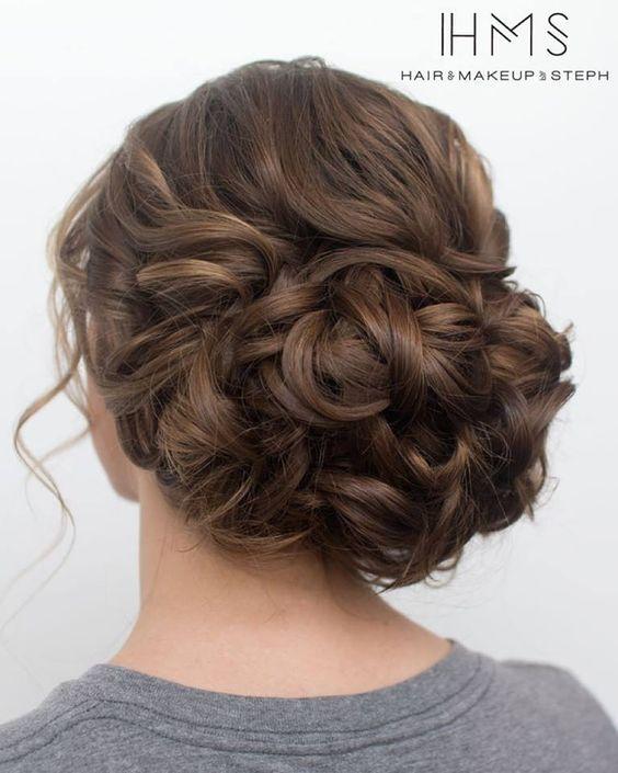 updo boda clásica a través del pelo y maquillaje por Steph