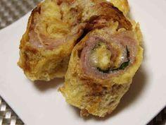 お弁当おかず 油揚げと豚肉のくるくる焼きの画像
