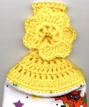 Crocheted Towel Topper with Holiday Variations