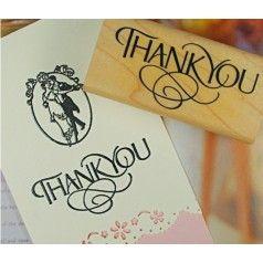 """Sello """"Thank you"""".  El sello perfecto para realizar tus tarjetas pesonalizadas de agradecimiento, tarjetas para detalles, etc...  Se sirven surtidos en 2 modelos distintos."""
