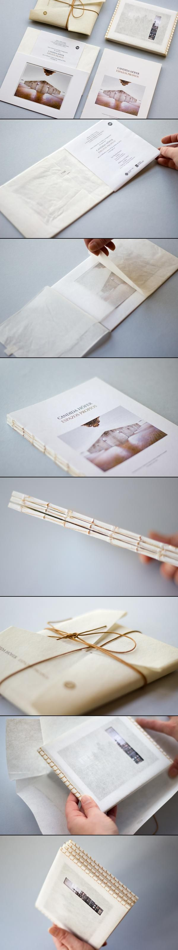 Candida Hofer. Espazos Propios - Editorial / Print / Graphic / Book design - Hand bound - Book binding