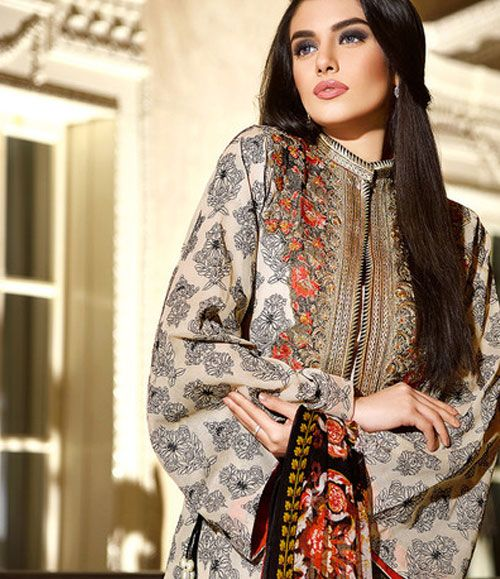 Gul Ahmed Embroidered Chiffon Collection C_422