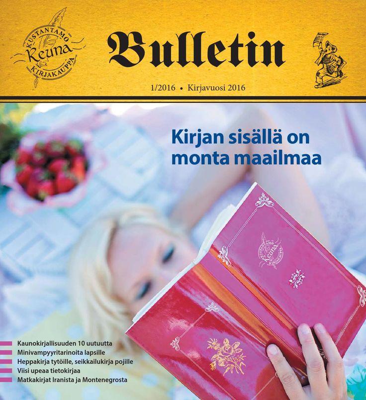 REUNA Kustantamo ja kirjakauppa Oy 2016 tuotelehti. Sisältää esittelyt syksyn 2016 uutuuksista ja ajankohtaista asiaa.