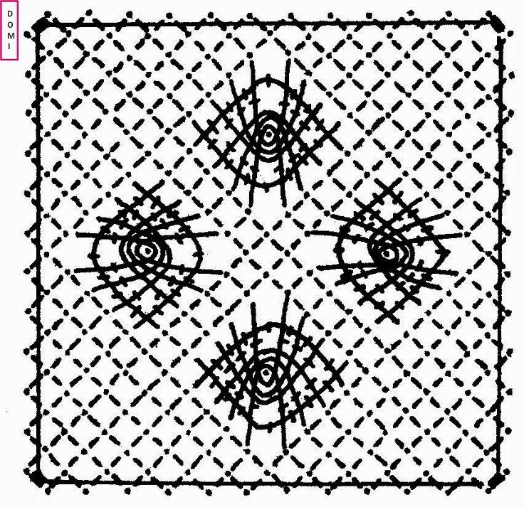 Le carton n° 10 est réalisé avec des araignées sur fond torchon.             Si vous réalisez un ouvrage avec les cartons proposés par Domi...
