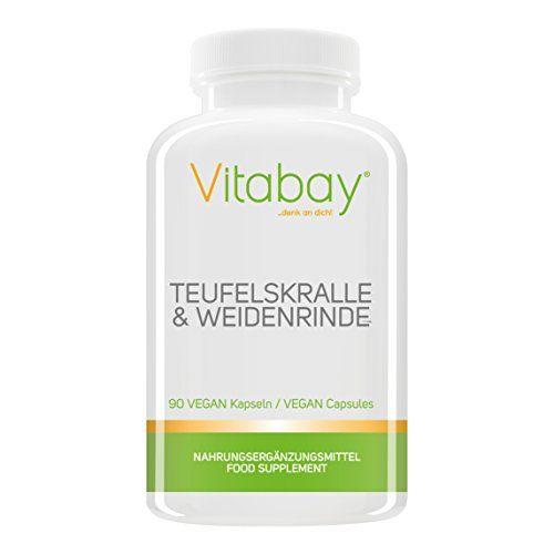 Teufelskralle & Weidenrinde - 90 capsules végétaliennes - fournit des harpagosides et de la salicine #Teufelskralle #Weidenrinde #capsules #végétaliennes #fournit #harpagosides #salicine