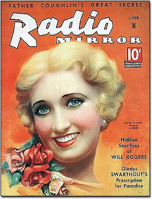 Vargas painting of Ruth Etting