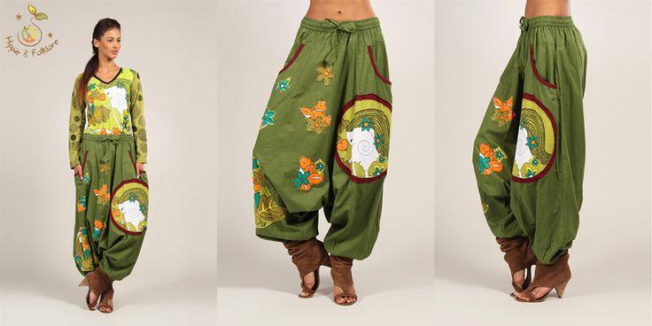 ॐ Salvari kaki bumbac  www.hainehippie.ro/70-pantaloni-salopete-salvari Transport gratis la 2 haine si genţi www.facebook.com/hainehippie