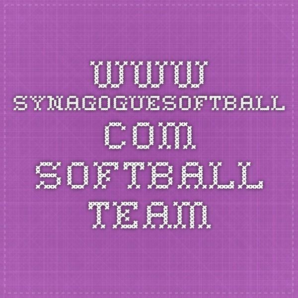 www.synagoguesoftball.com - Softball Team