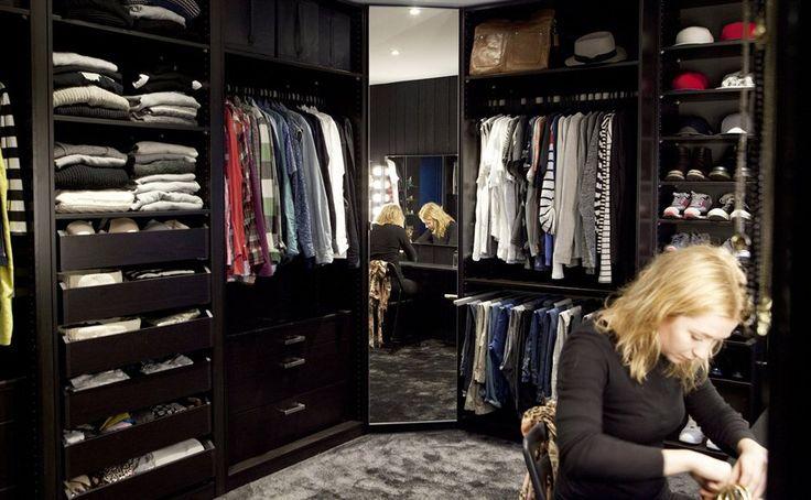 pax garderobekasten in zwartbruin vikedal spiegeldeur 57 50x229 cm ledsj led. Black Bedroom Furniture Sets. Home Design Ideas