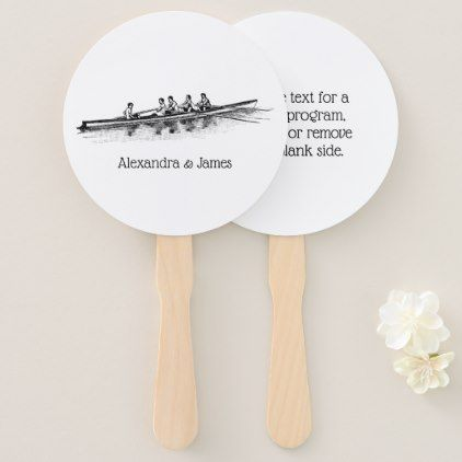 Rowing Rowers Crew Team Water Sports Hand Fan - craft supplies diy custom design supply special