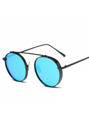 0d485a1e65e8e7 Round Metal Sunglasses Steampunk Men Women Fashion Glasses Brand Designer  Retro Vintage Sunglasses UV400