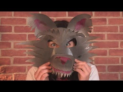 """How to make Lion Paper Plate PARTY MASKS - """"Paper Art and Craft Ideas"""" (English) - YouTube"""