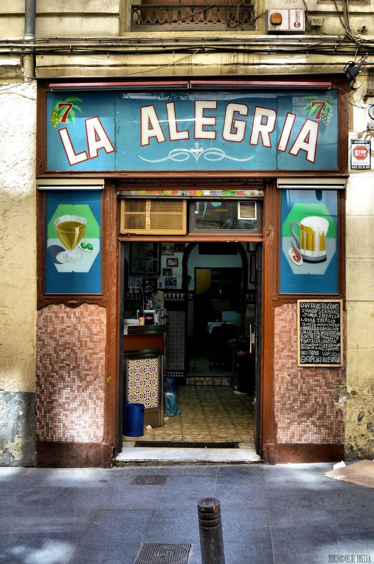 Bar Alegría, Madrid.