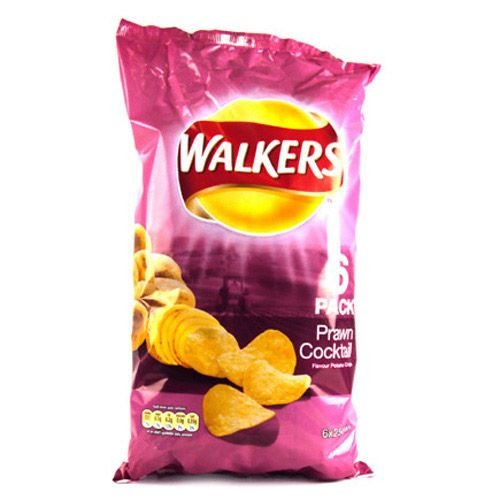 Walkers Prawn Cocktail Crisps 6 Pack
