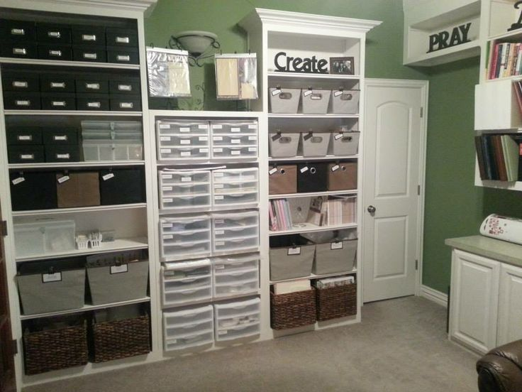 Pin by lorena isabel on craft room craft storage for Storage solutions for craft rooms