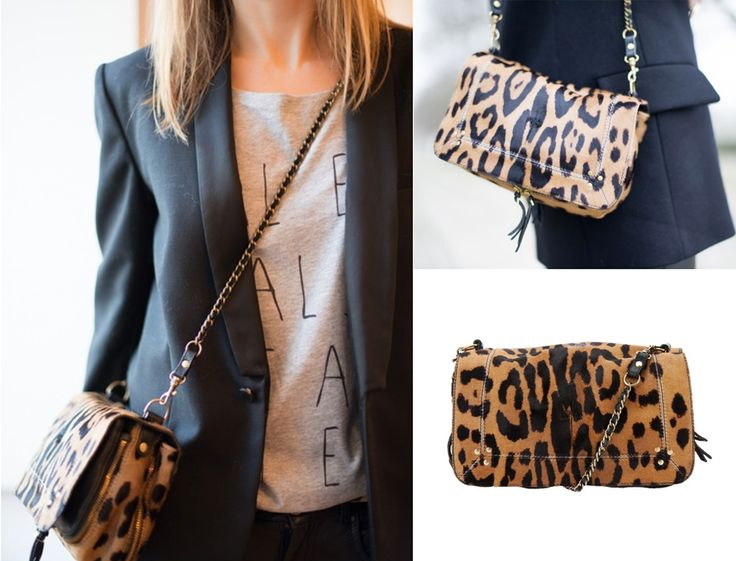 Jerome Dreyfuss Bobi Leopard Bag