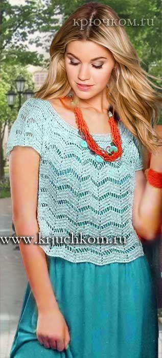 Вязание летнего топика крючком модные модели на лето 2016