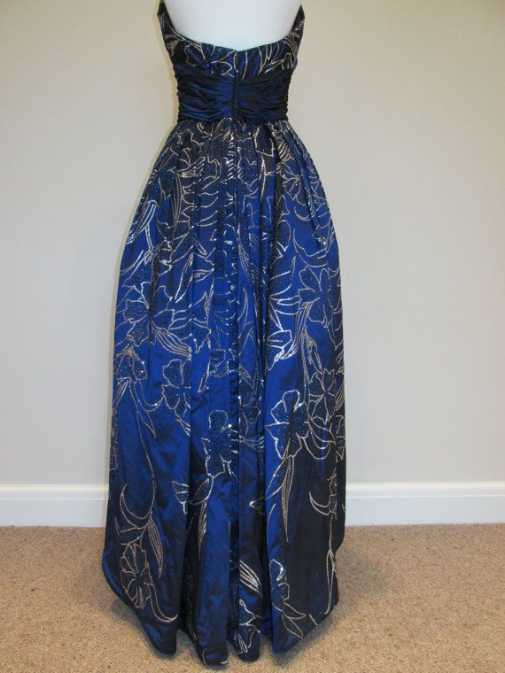 couture strapless dress vintage MURRAY ARBEID by SuperGirlVintage