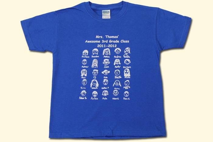 classroom faces class shirt