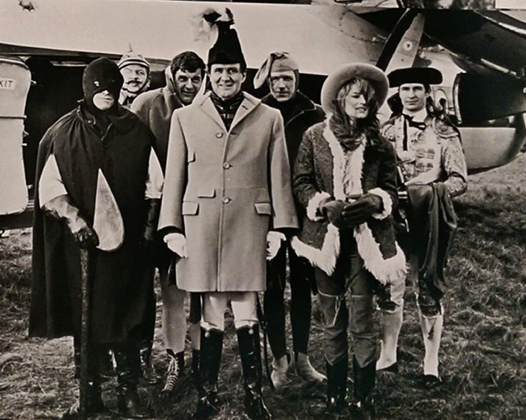 0 Patrick macnee as john steed - The seven cast members of the Avengers episode  behind the scenes on location