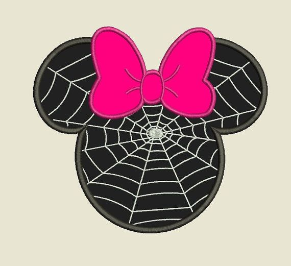 Minnie Mouse Spider Web Machine Embroidery and Machine by InaHoop