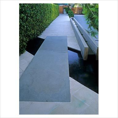 Contemporary garden with walkway and path over water - Wunulla Rd, Wollahra, NSW, Australia