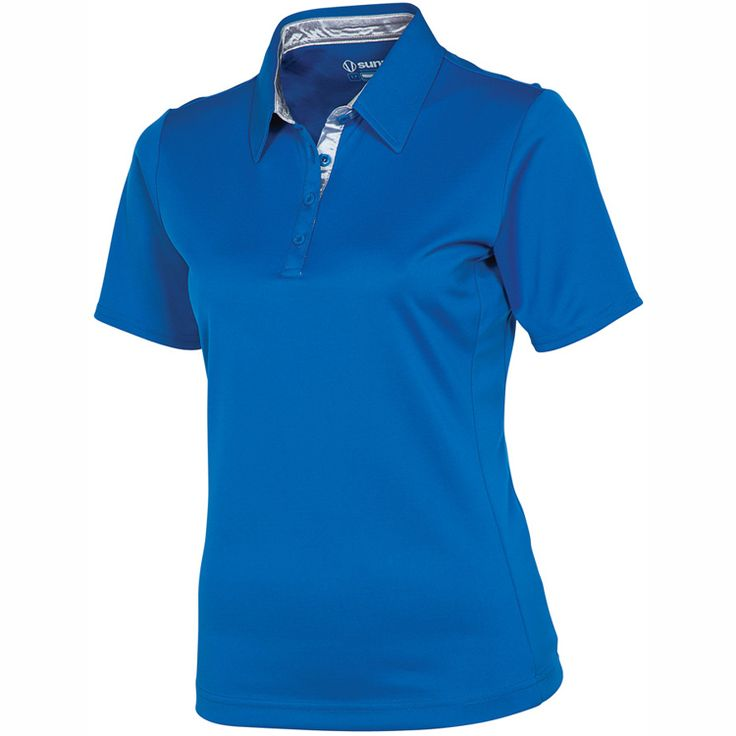 Sunice Golf Cara Classic Womens Golf Shirt Barely Blue