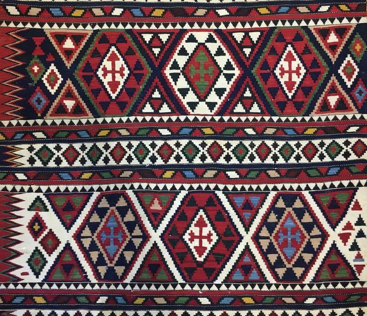Special Shahsavan - 1890s Antique Caucasian Kilim - Flatweave Rug 4.3 x 12 ft. #Tribal