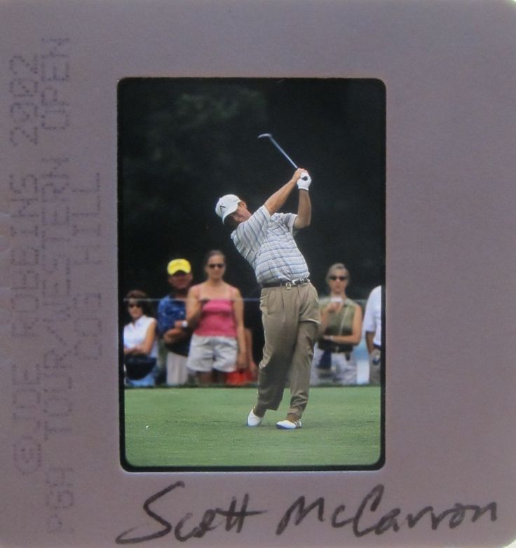 SCOTT McCARRON PGA MASTERS US BRITISH OPEN 7 WINS ORIGINAL SLIDE 2