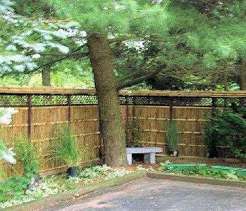 Low+Fence+Ideas | Wave top bamboo fence panels Satisfied customer in NJ