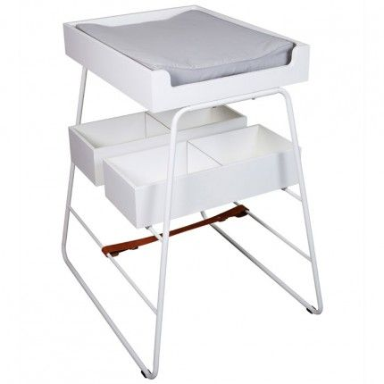 Tower White Baby Changing Table U0026 Mattress