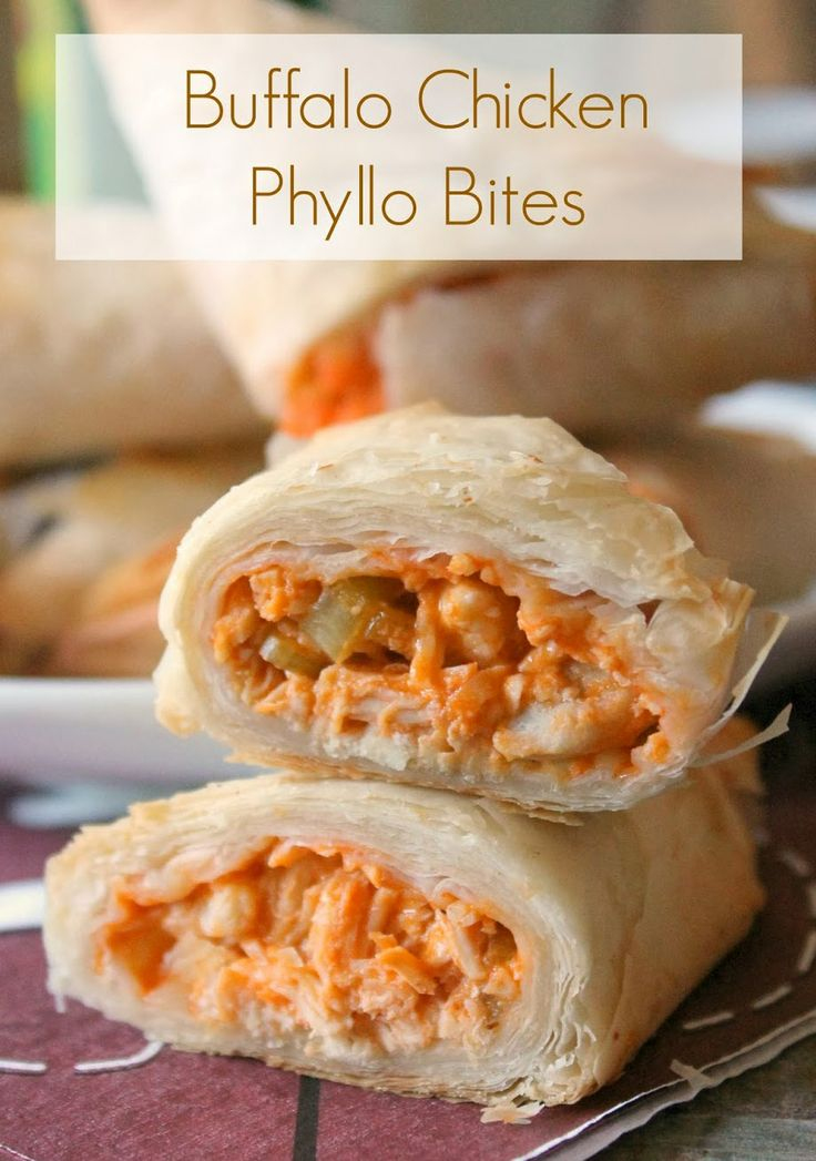 Buffalo Chicken Phyllo Bites | Recipes I HAVE to try or have tried ...