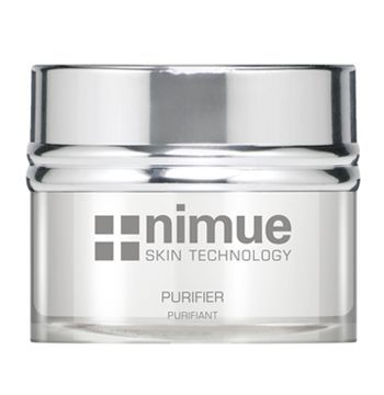 Problematic Range Product 3: Purifier. A skin-clarifying day or night formula for the control of excessive oilyness in problematic skin types. Contains Alpha Hydroxy Acids, Tea Tree oil and Vitamin A & C Ester. 50ml. Nimue Skin Technology.