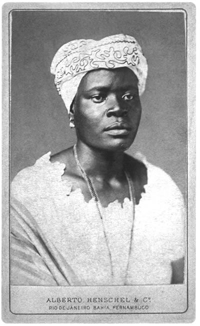 """""""Portrait of a black woman"""" - Alberto Henschel - 1870 - Far more enslaved Africans were taken to Brazil than to North America, and slavery remained legal in Brazil until 1888. Henschel left many striking portraits of African-Brazilian people, most of them enslaved."""