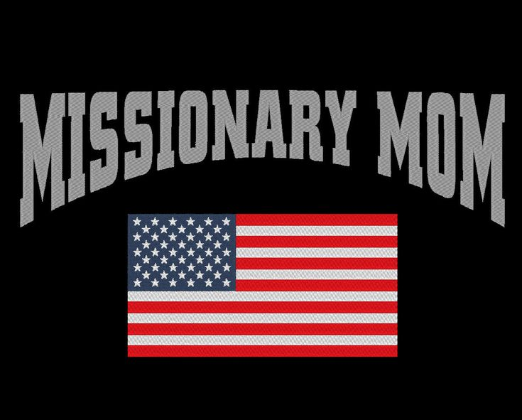 Missionary Mom USA Mission Embroidery Machine Design by OCDEmbroidery on Etsy