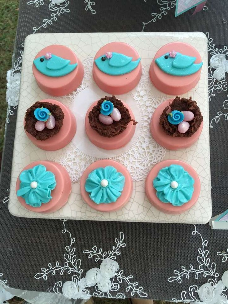Dipped Oreos For Baby Shower Part - 25: Birds / Feathers / Nest Baby Shower Party Ideas