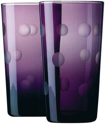 Home Essentials Pulse Dots Highball, Purple (Set of 4) | Free Shipping