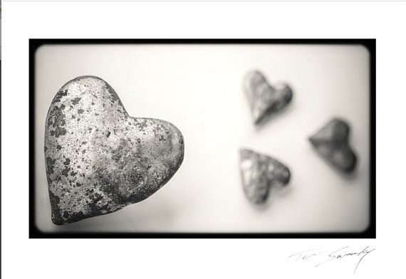 Silver Heartsvalentines for menguys by SwankyPhotographic on Etsy