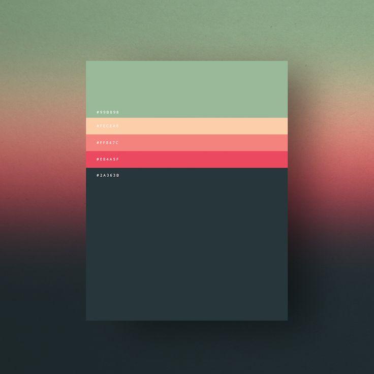 paletas de colores web Minimal / combinación con el código hexadecimal - 2