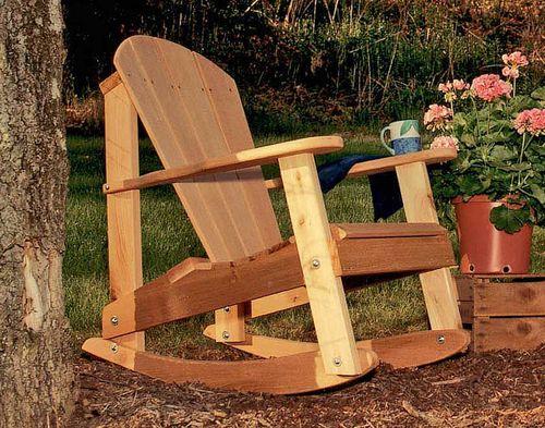 Cedar Adirondack Rocking Chair