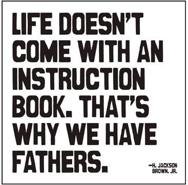 Life doesn't come with an instruction book. That's why we have fathers. - card from Bobangles. #FathersDay #Australia #QuotableCards
