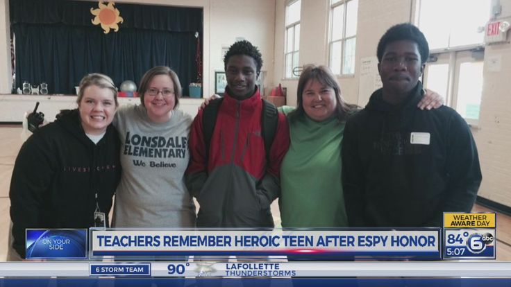 Teachers remember Zaevion Dobson after ESPYs honor